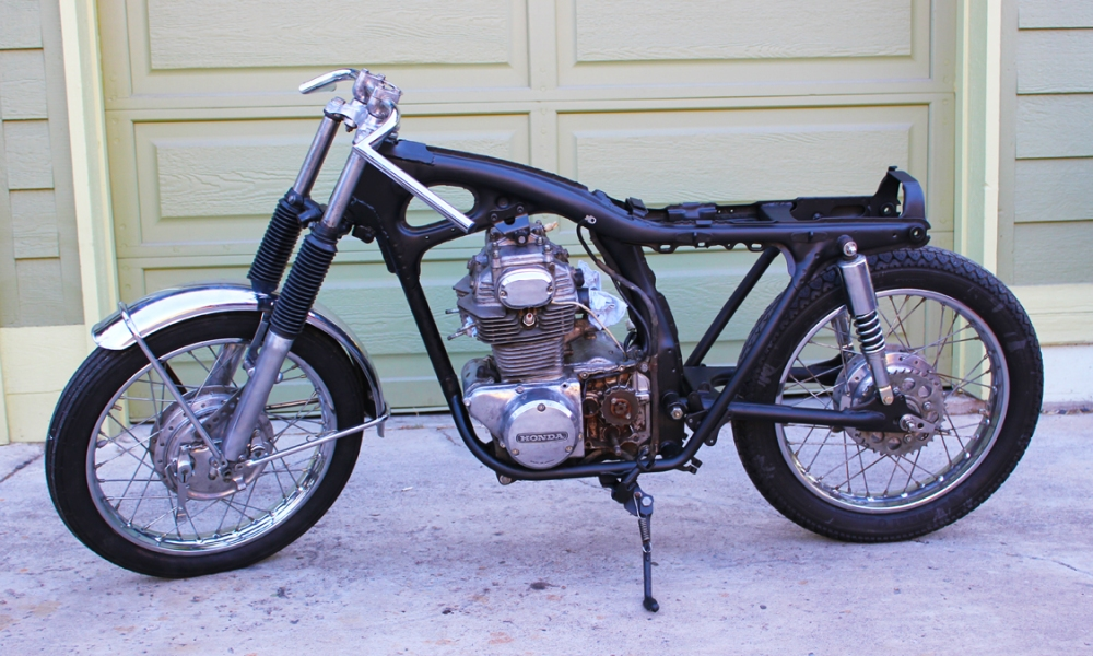 1971 Honda Cb350 Cafe Racer - Episode 5: Rolling Chassy (3/4)