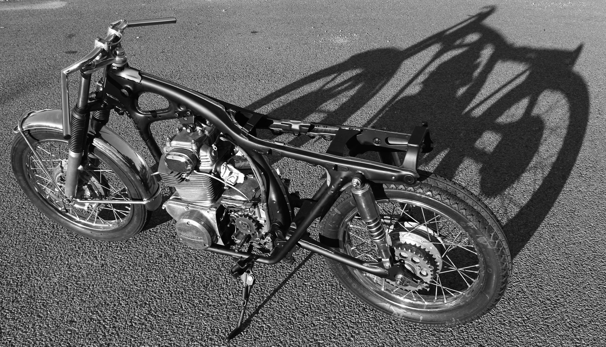1971 Honda Cb350 Cafe Racer Episode 5 Rolling Chassy
