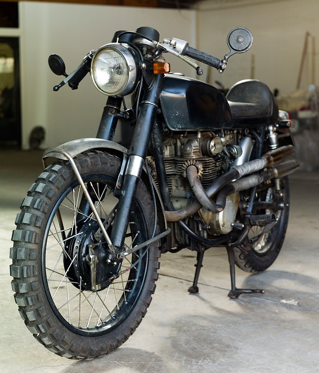 Honda CB350 Cafe Racer project Inspiration - Girl With The Dragon Tattoo (2/6)