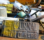 Antique Portland Sign - The Journal