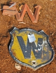 Antique Cast iron Sign
