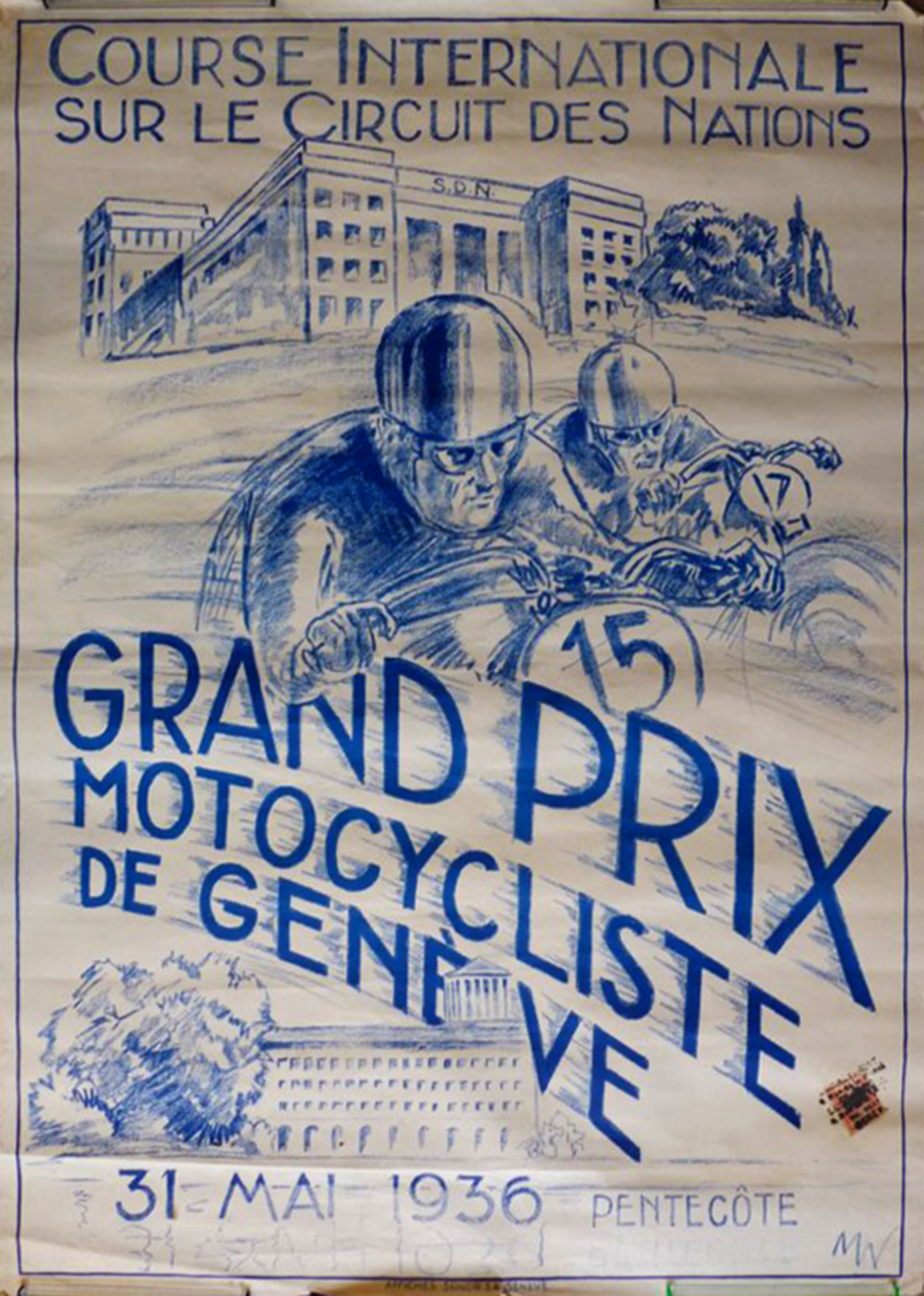 French Motorcycle Poster