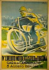 Italian Motorcycle Race Poster