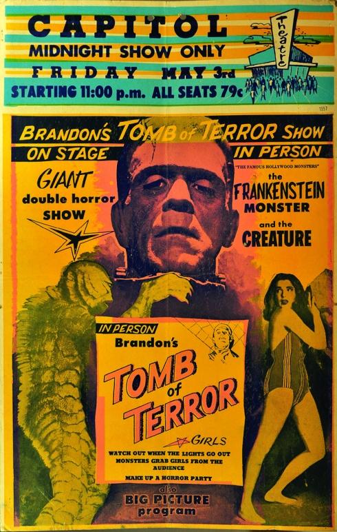 Spook Show Frankenstein Poster