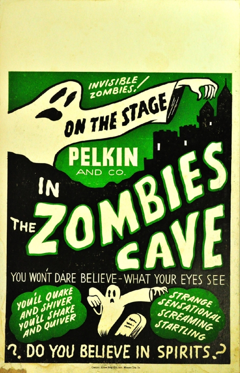 Spook Show Zombies Cave Poster