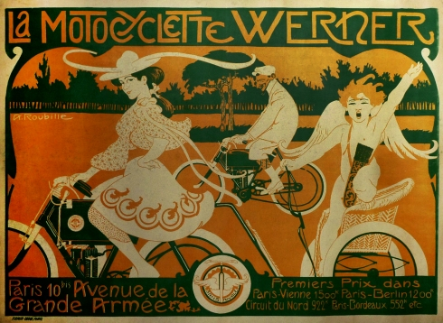 Werner Motorcycle Poster
