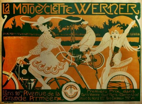 Werner Motorcycle Poster