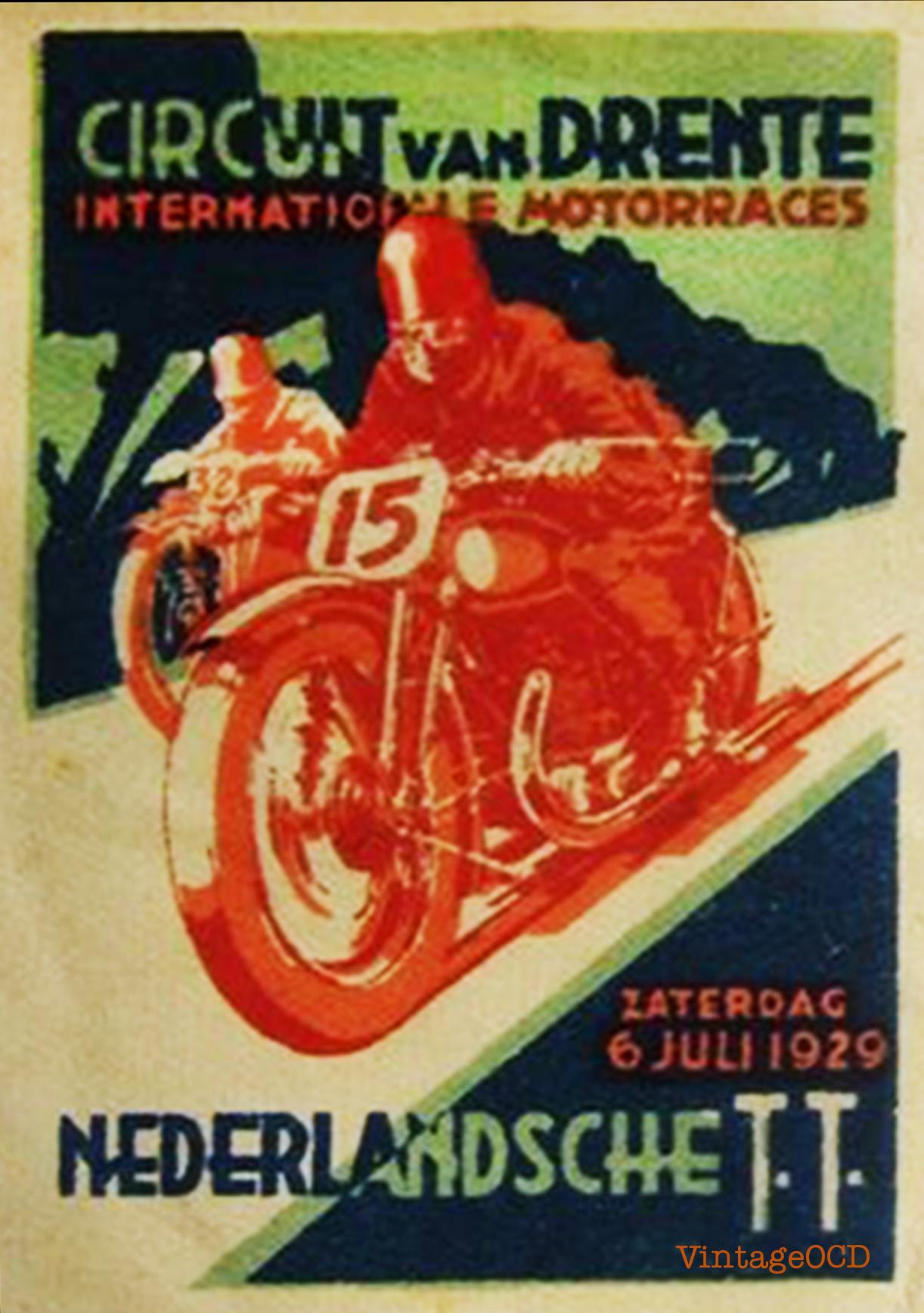 Motorcycle Racing Poster Vintage Ocd