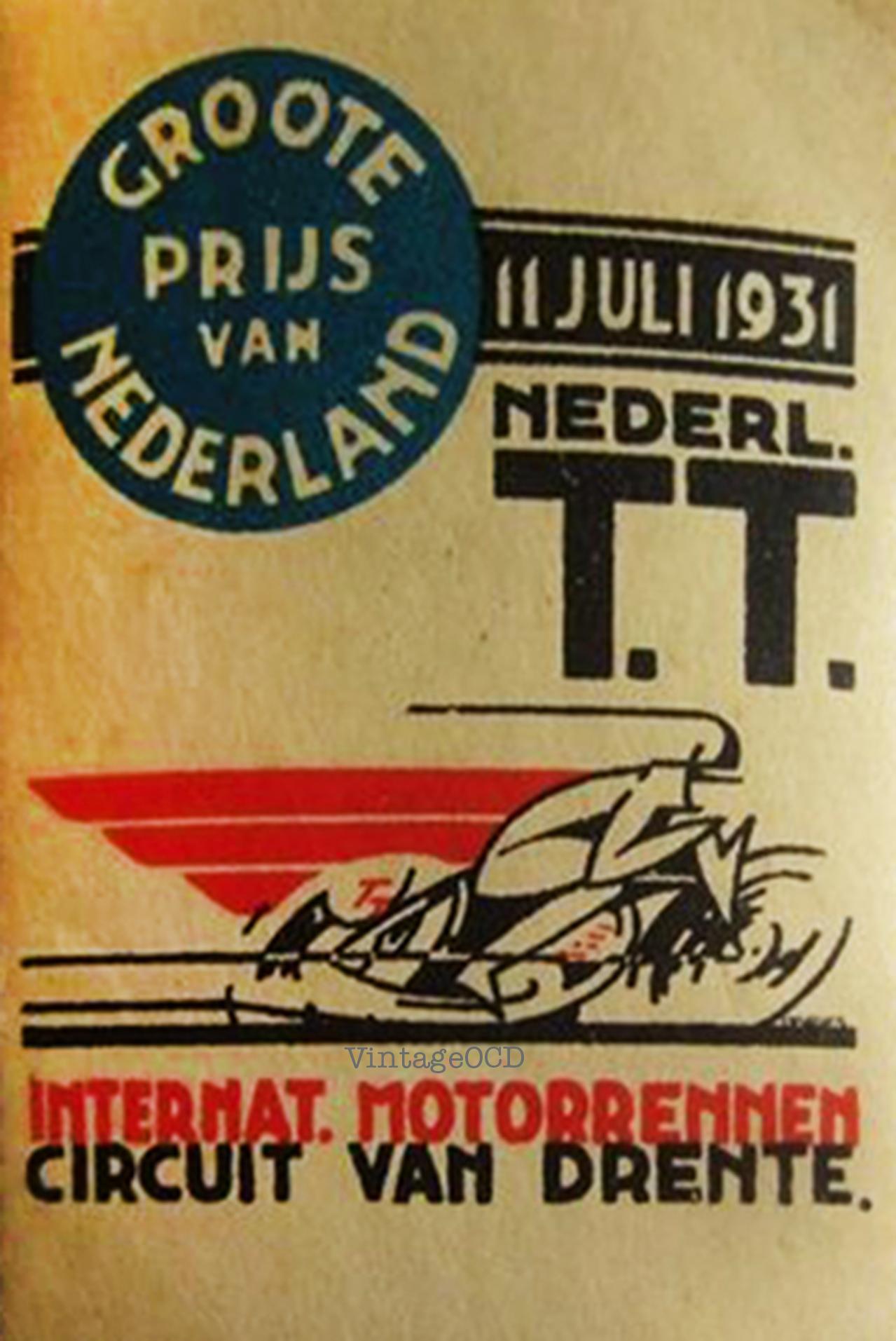 motorcycle racing poster vintage ocd. Black Bedroom Furniture Sets. Home Design Ideas