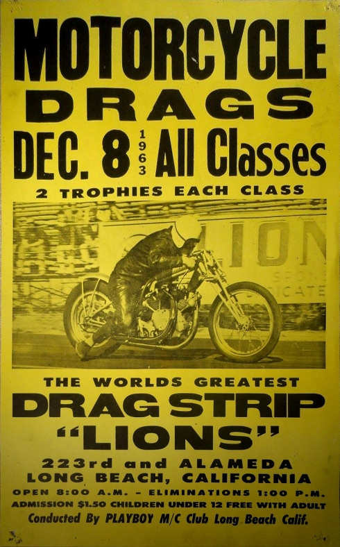Motorcycle Drag Race Poster 1968