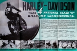 Moto Poster Harley Hill Climb 1940