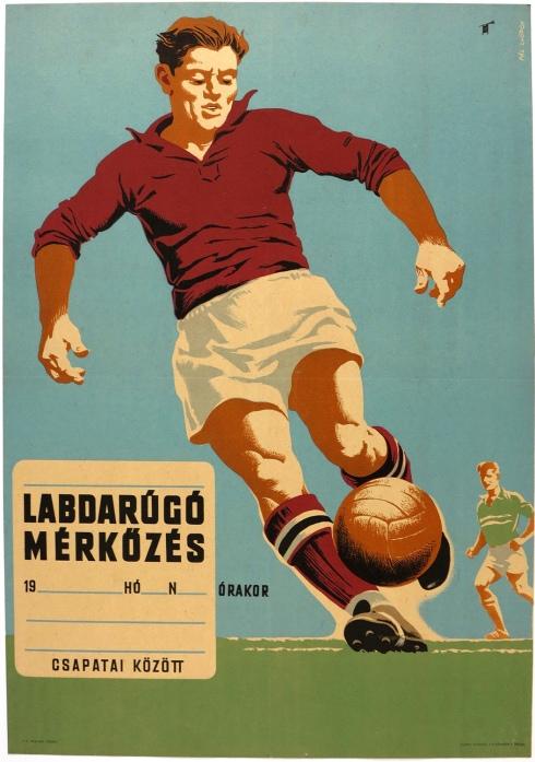 Hungarian Soccer Poster