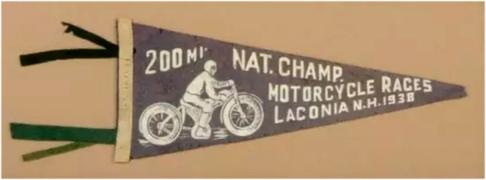 Motorcycle Races Pennant 1938
