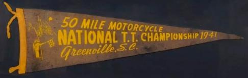 Motorcycle Races Pennant 2