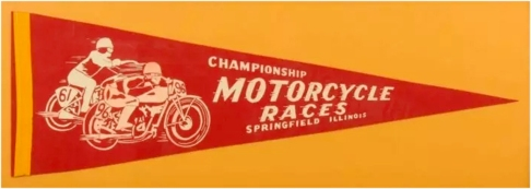 Motorcycle Races Pennant